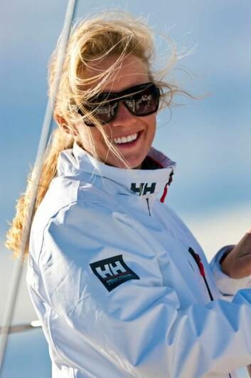 SKIPPER: Monica Rodal er skipper for Moss Seilforening i den 3. runden.