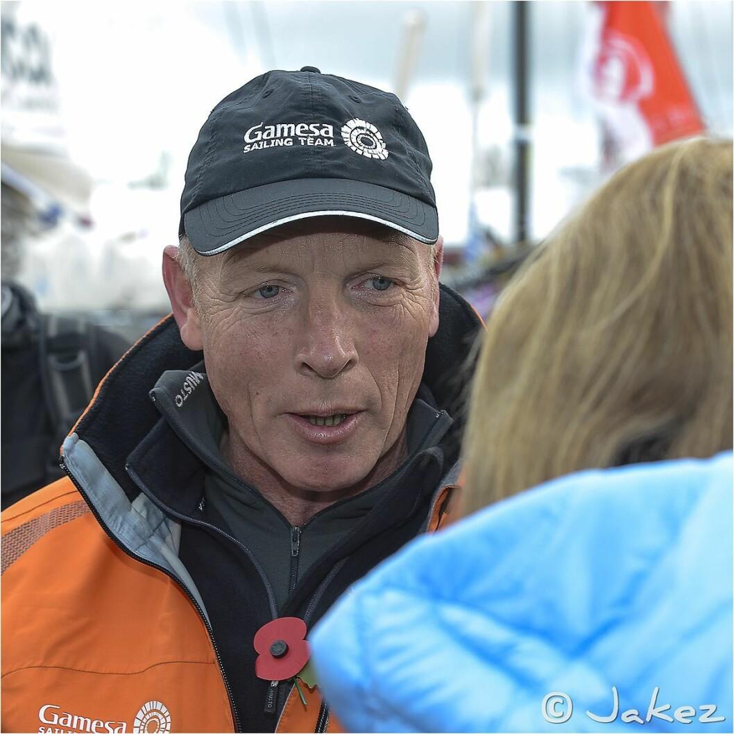 OM BOD I «HYDRA»: Mike Golding er med som mannskap om bord i Henrik Bergesens Class 40.