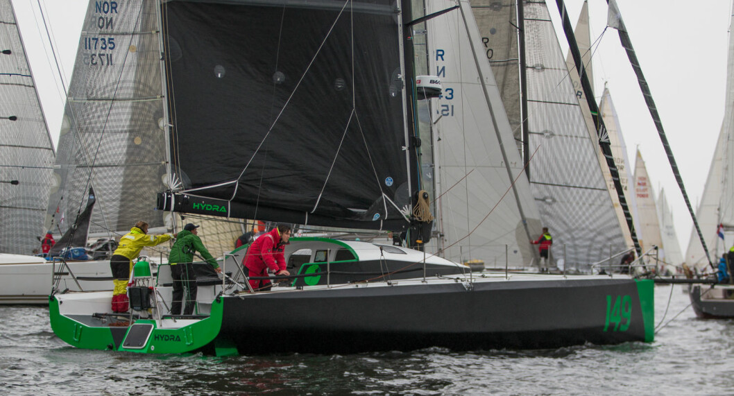 DEBUT: «Hydra» hadde sin regattadebut under årets Færderseilas. Nå er den nummer 5 i Fastnet Race.