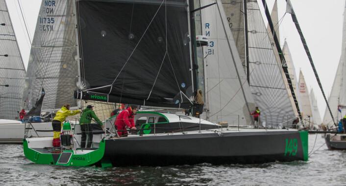 DEBUT: «Hydra» hadde sin regattadebut under årets Færderseilas. Båten ble nummer 7 i Fastnet Race.