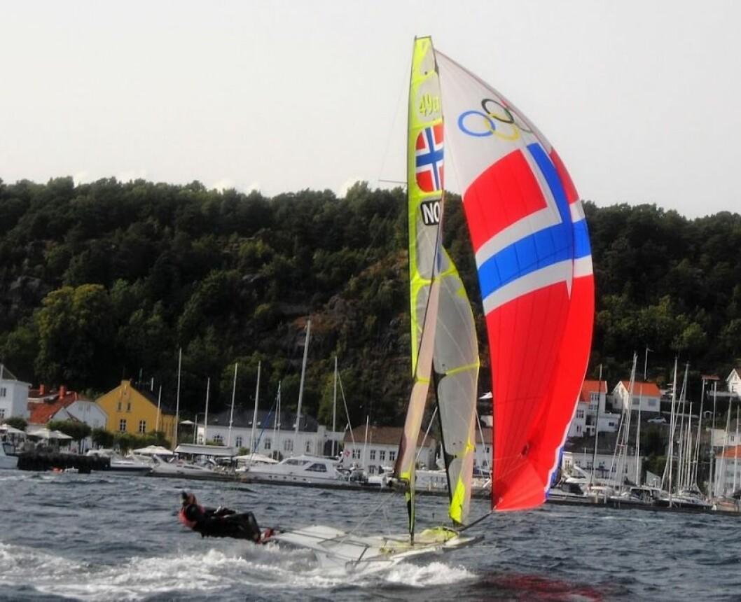 Tomas og Mads Mathisen under trening i Risør