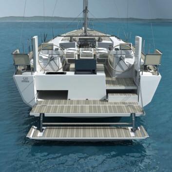 BYSSE: Øverste plattform gir gunstig høyde for matlaging, mens den laveste gjør det mulig å stikke tærne i vannet.