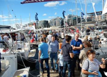 POPULÆR: Utstillingen på Aker Brygge er populær, og den viktigste i Norge for salg av seilbåter.