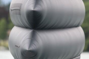 TYNN: En vifte gjør at det er overtrykk inne i vingen som er sydd av tynn duk.