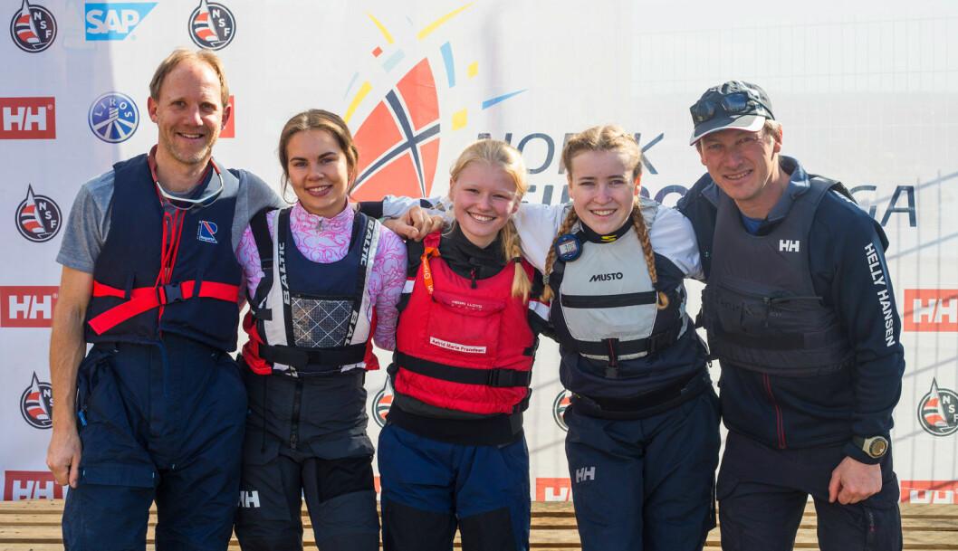 FLEST JENTER: Soon Seilforening har deltatt med flest jenter i seilsportsligaen. Bildet er fra den første runden i Oslo.