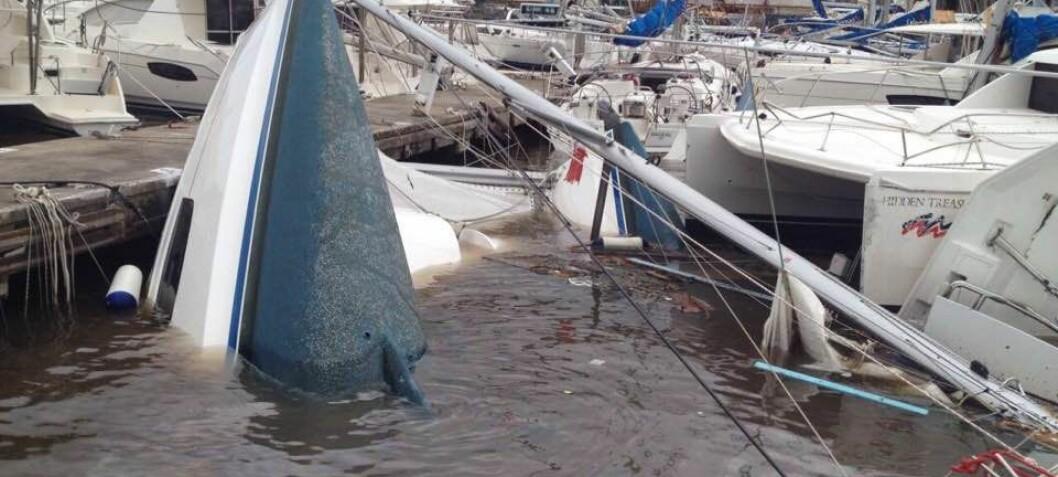 80 prosent av båtene ødelagt
