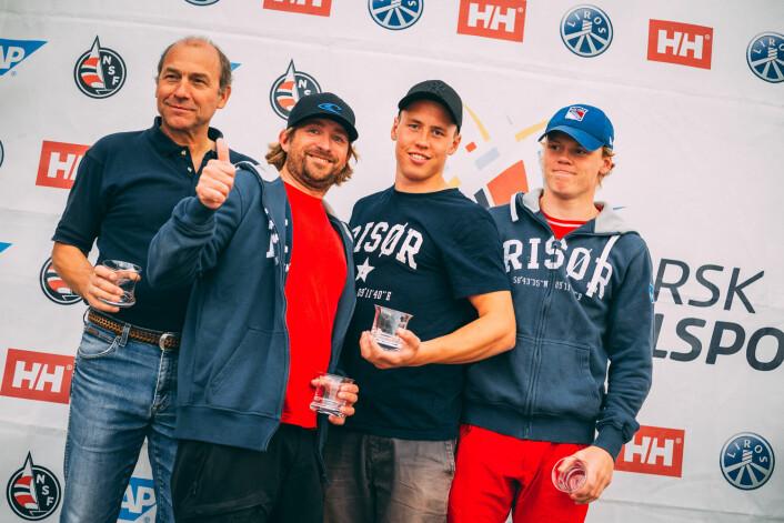RISØR: Risør rykker opp til 1. divisjon i 2018 etter å ha vunnet 2. divisjon i 2017.