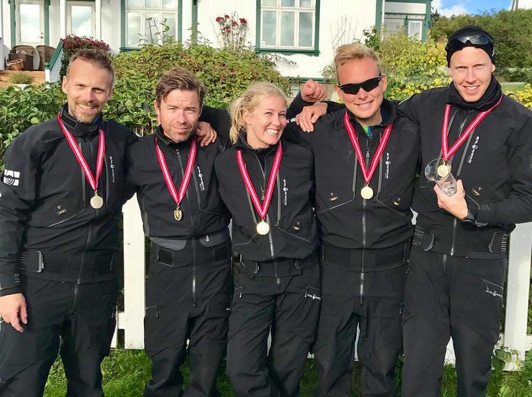 GULL: Team Storm Capital Sail Racing vant sitt fjerde NM-gull på rad i Melges 24.