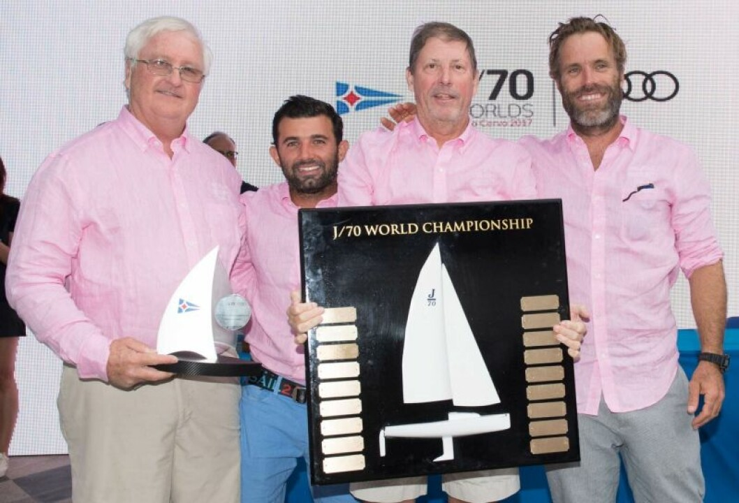 Audi J/70 verdensmester 2017;Relative Obscurity (USA) Peter Duncan, Victor de Leon, Willem Van Waay, Jud Smith.