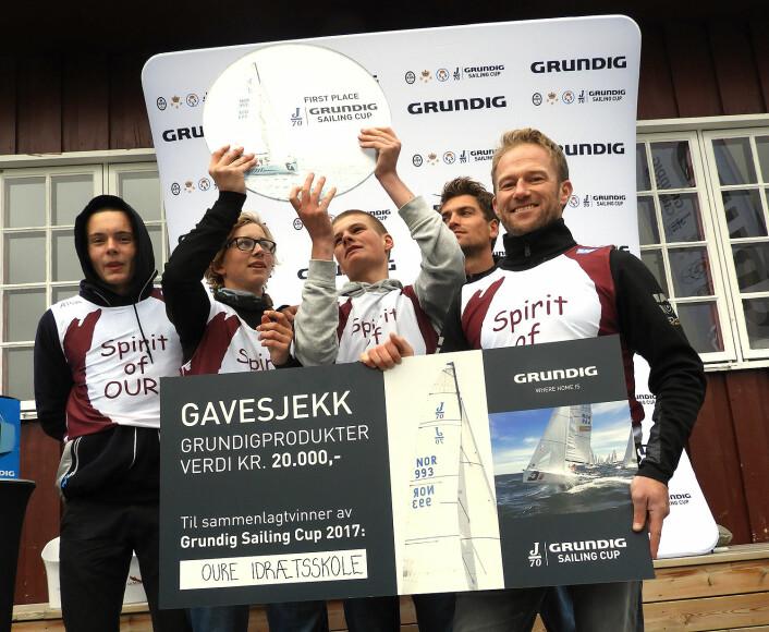 VANT: Jesper Radich fra Danmark vant Sailing Grundig Cup sammen med sine elever fra Oure Idrætsskole.