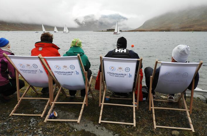 J/70: Da vinden kom fikk man gjennomført de heatene man skulle. FOTO: KNS/Linn Krogh Hansen