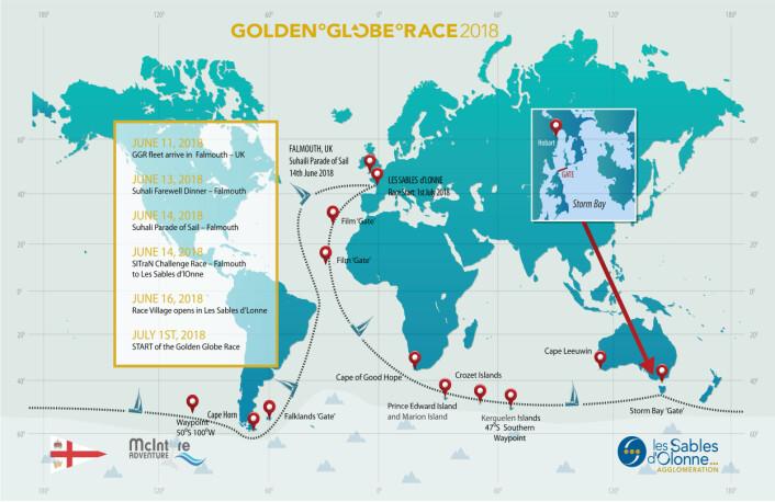 NON_STOP: Golden Globe skal seiles jorda rundt mot øst.