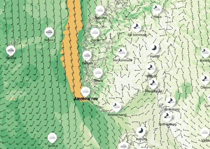 VIND: Are Wiig for gode forhold etter å ha rundet Lindesnes. Tirsdag blir det frisk vind fra sør langs Vestlandskysten.