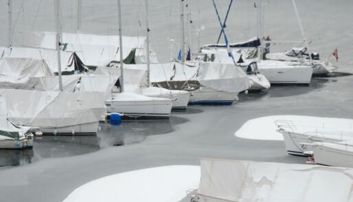 Frostsikring av båten
