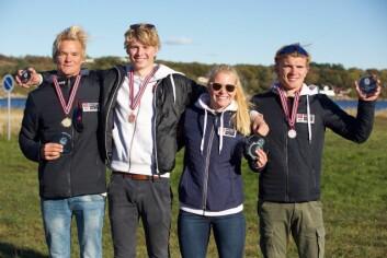 BEST: Sebastian Wang-Hansen,Endre Funnemark, Maria Mollestad og Arthur Ulrichsen var de beste i seniorklassen.