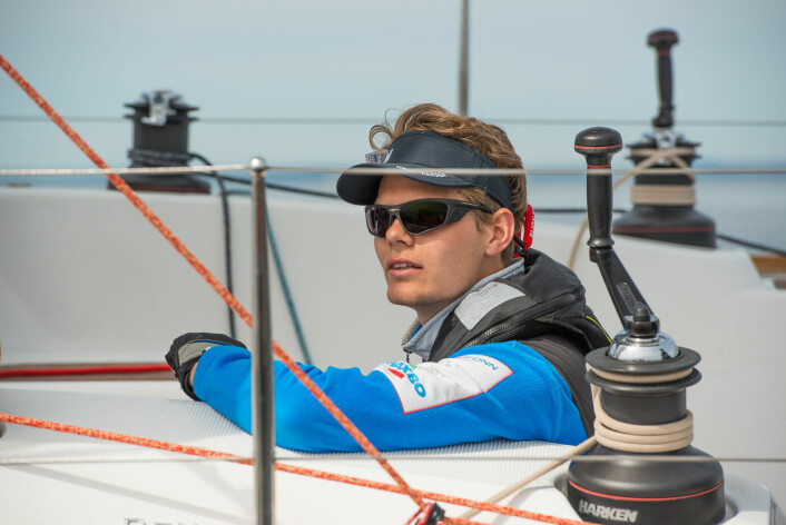KRONPRINS: Øyvind Rishoff har seilt seg opp fra 5. til 2. plass i løpet av sesongen.