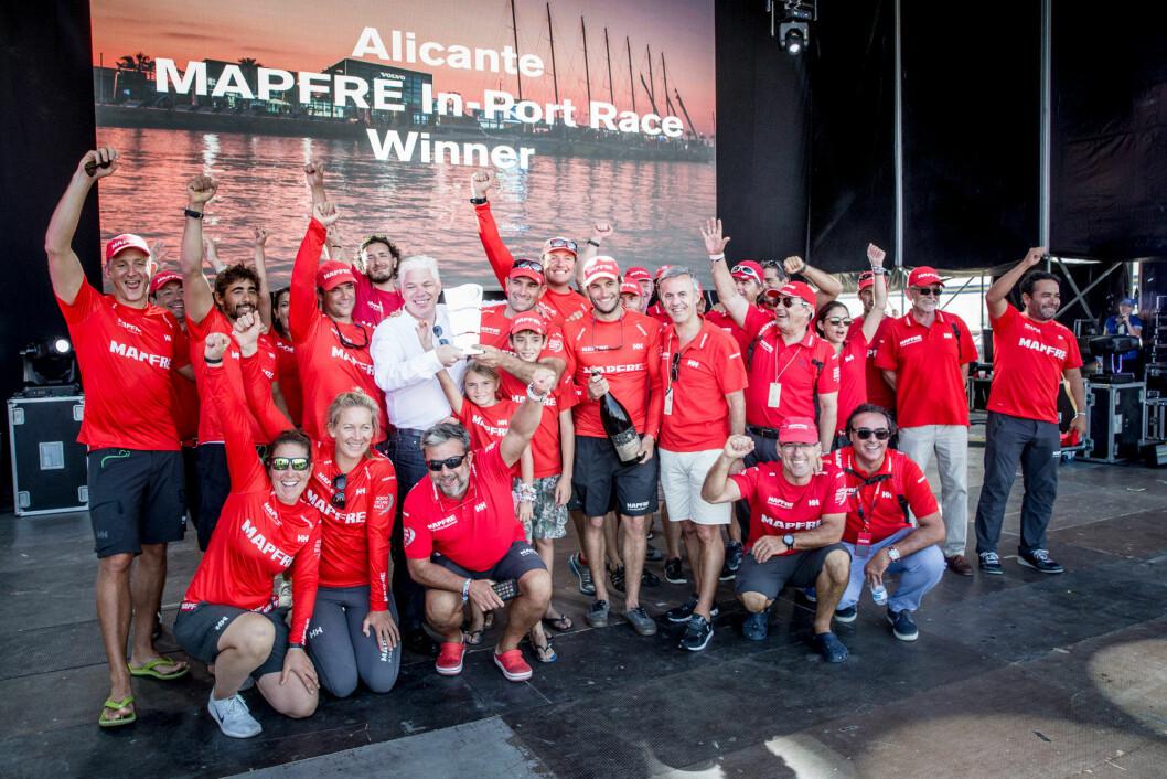 MAPFRE vant In-port Race i Alicante.