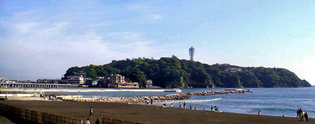 Enoshima. Seilernes OL havn i 1964 og 2020