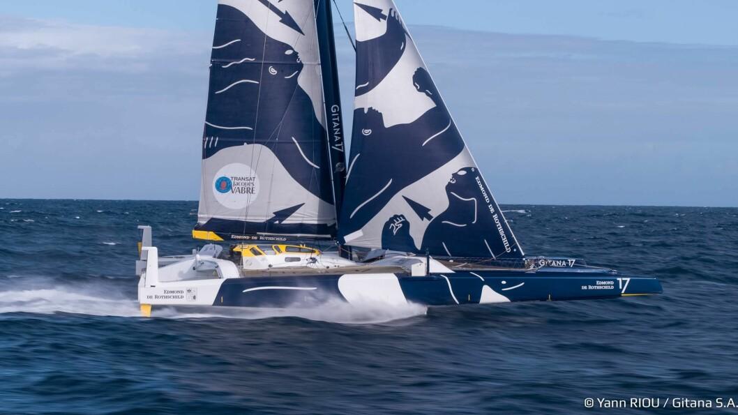 FOILER: «Gitana17» er noe av det mest radikale bygget for å seiles på havet. Om det funker vil vi se til helgen.
