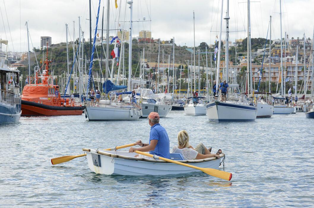 START: Søndag 5. november starter 68 båter fra Las Palmas med kurs mot Kapp Verde.