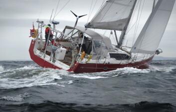 STØRRE: 45-fots lange RM1350 «Tintomara» seiler ARC+. Skipper Markus Gamenius har seilt over Atlanterhavet ganger før.