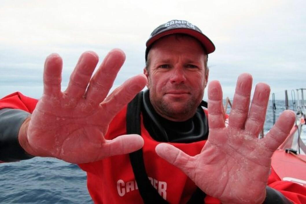 Chris Nicholson i sitt 7. Volvo Ocean Race