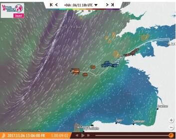 UVÆR: Seilerne vil i natt smake på hva Atlanterhavet har å by på i november.