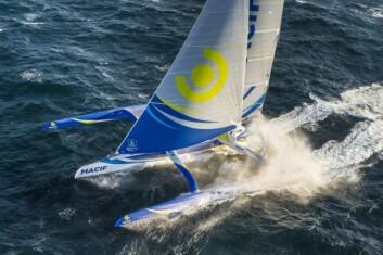 ULTIME: Trimaranen «Macif» er bygget for å seile rundt jorda på rekordtid.