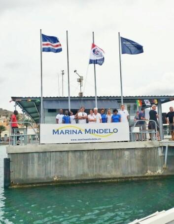 MÅL: Mindelo på Kapp Verde venter på de første båtene i natt.