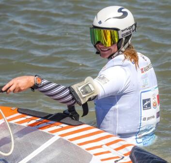 RASK: Nosrke Miriam Rasmussen går for rekord høy fart i Afrika.