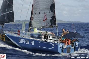 MOT MÅL: Ian Lipinski er fremme i Karibia 13 døgn etter start i Las Palmas via Kapp Verde.