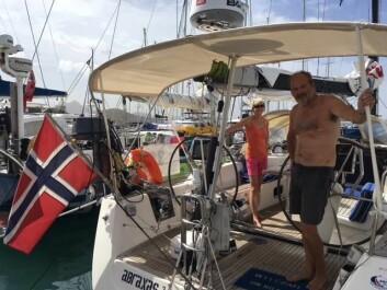 RASK: Eivind Haugan og «Abraxas3» ligger som fjerde båt i feltet og først av de norske.