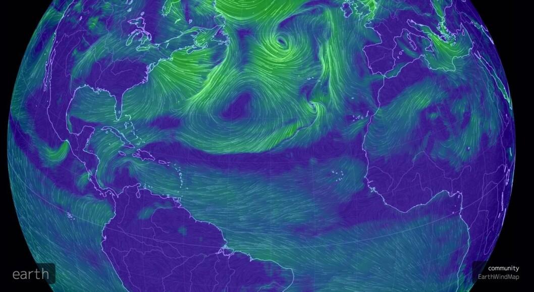 KOMPLISERT: Det oppstår et belte uten vind fra Kanariøyene til Karibia. Spørsmålet er å gå nord eller syd for dette området.