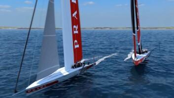 AC75: Båtene i neste America's Cup skal bli foilende enskrogsbåter på 75-fot.