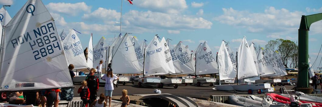 FLEST PÅMELDTE: Pinseleiren i Tønsberg var det arrangementet som hadde flest påmeldte i Sail Race System i 2017.