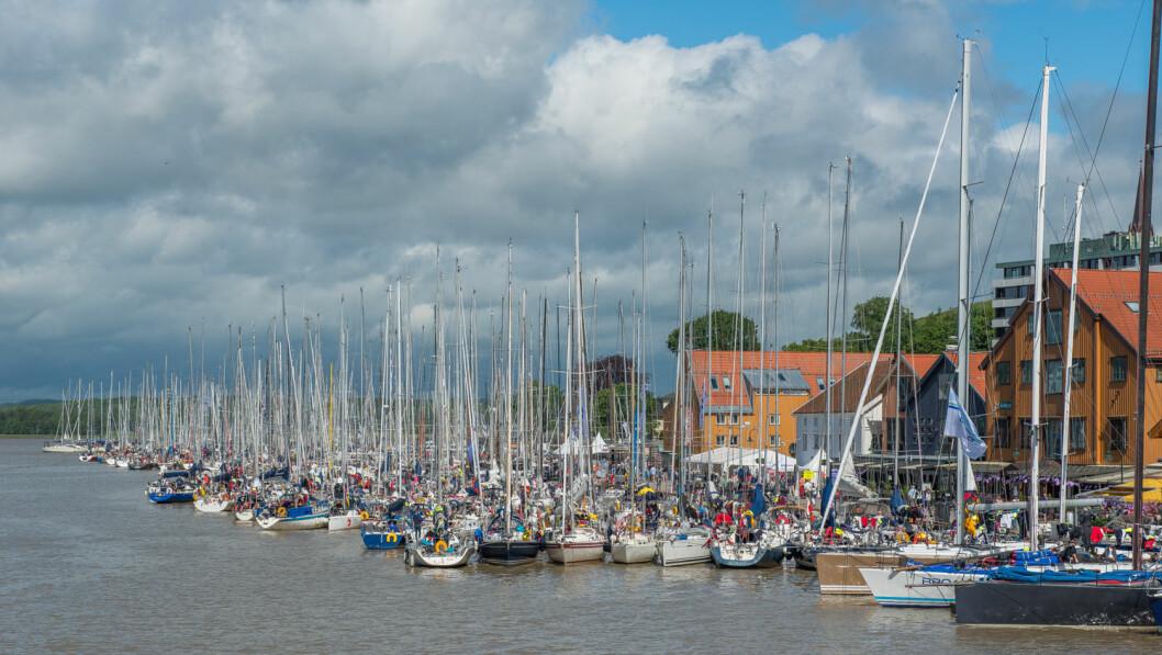 DEN BESTE DAGEN: 10. juni, den dagen Færderflåten klappet til kai i Tønsberg, var den best besøkte dagen i Sail Race System i 2017.
