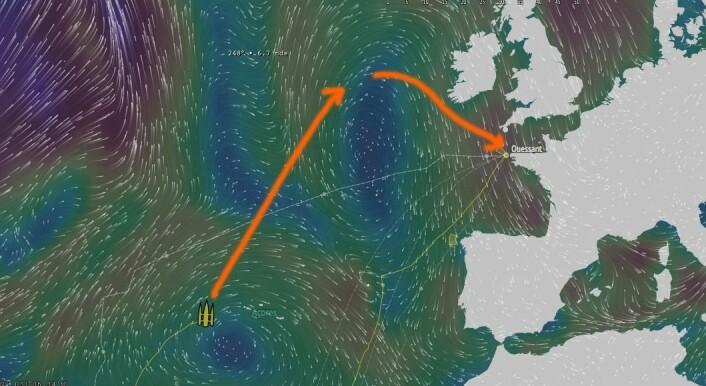 RYGG: Natt til fredag vil det bli en mulighet å smette forbi høytrykksryggen på nordsiden.