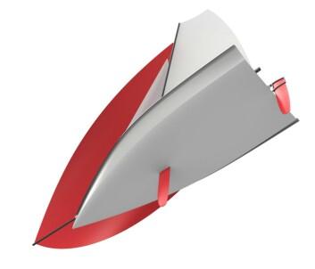 STABIL: Jolla er realtivt kort og bred. Skroget er utviklet for å plane raskt.