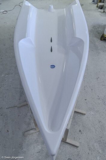 COCKPIT: Bilde av Seascape 14. Båten skal viser i Dusseldorf i januar.