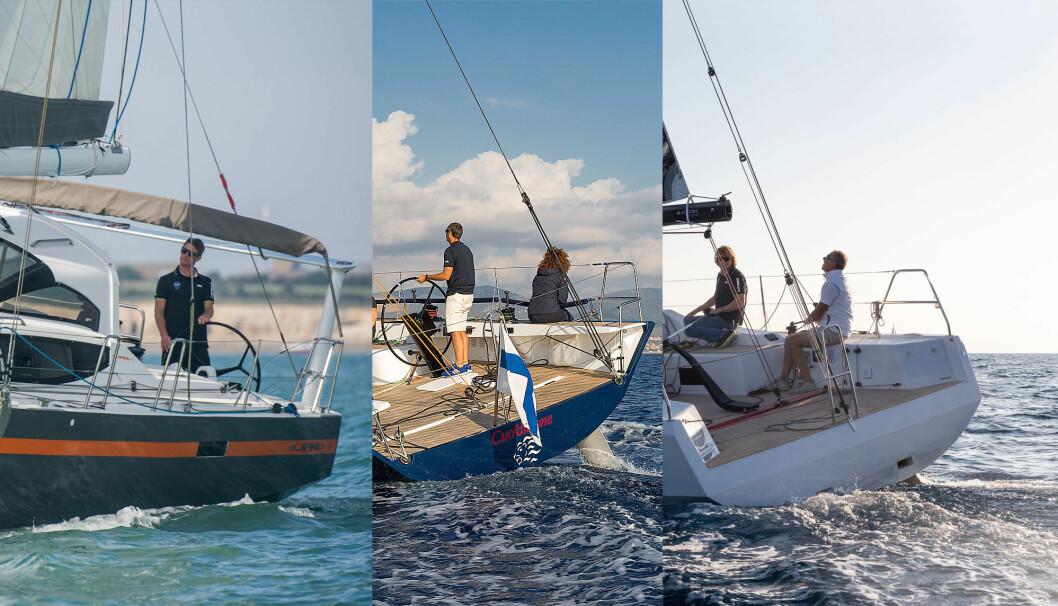 RASKE: JPK 45 FC, Claub Swan 50 og Grand Soleil 34 er tre svært ulike båter, men med hver sine styrker og kvaliteter.
