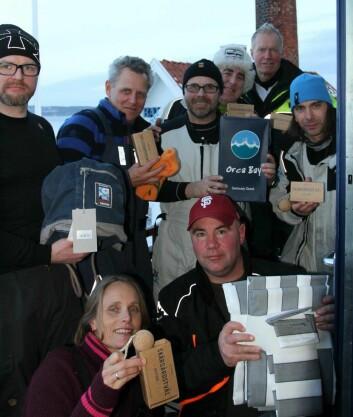 Premievinnere , sponset av Per Erik Tønnevold og Tønnevold Agentur. ? med Gerard Mccabe, Ole Tomas Amundsen, Steinar Waler og Ørjan Huusbye.