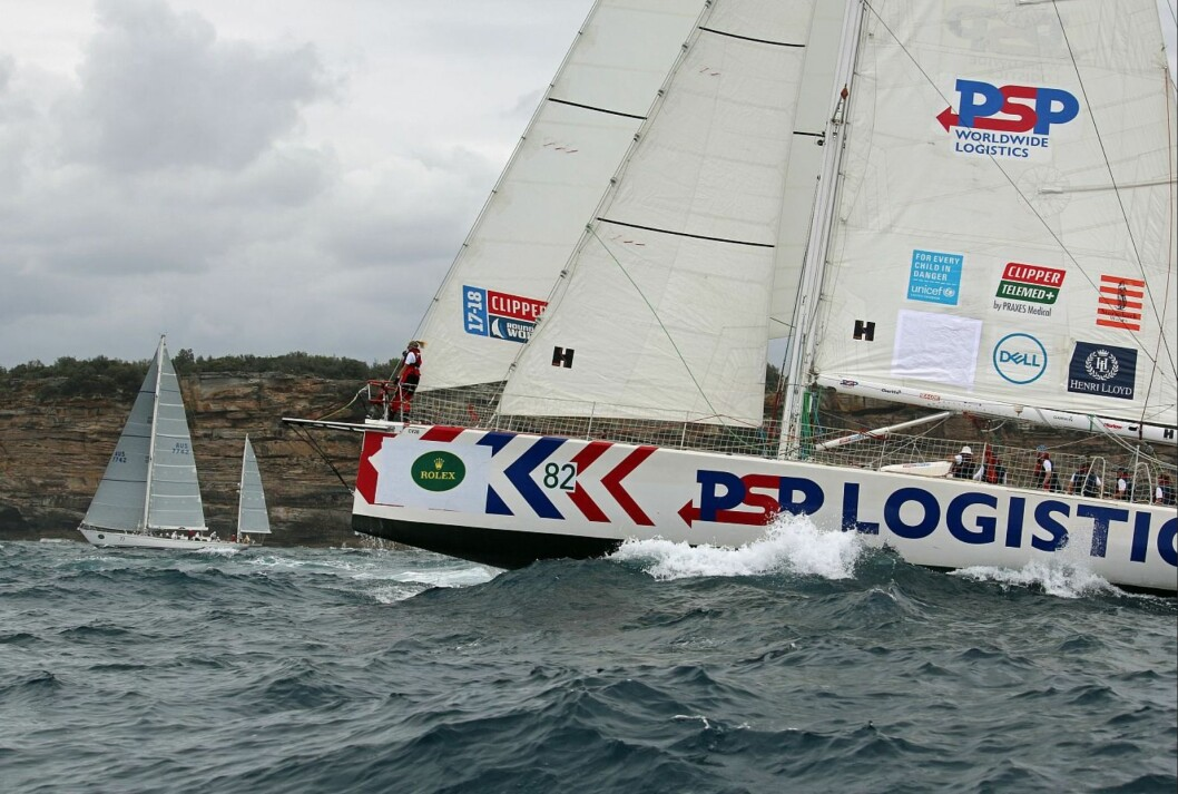VINDHULL: «PSP Logistics» ledet mesteparten av Sydney-Hobart Race, men tapte ledelsen i et vindhull iike før mål.