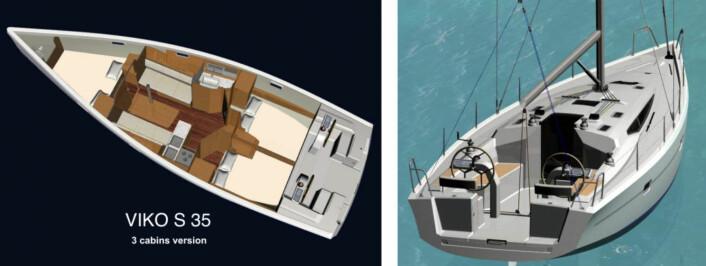 MODERNE: Den polske båten har alle løsninger vi forventer av en moderne turseiler.