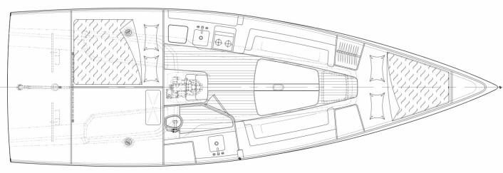 INNREDNING: Båten blir enkel under dekk, men har det aller mest nødvendige.