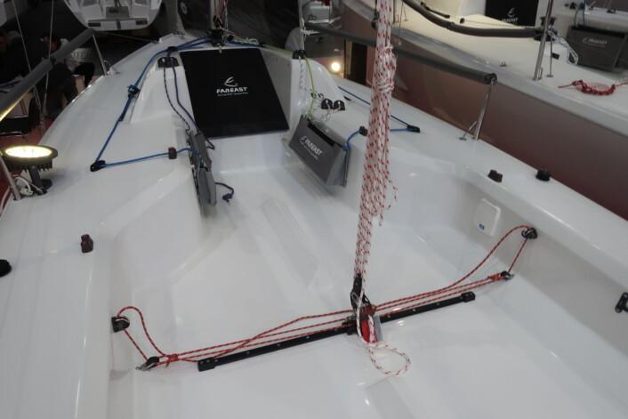 STOR: 19-foteren har en stor cockpit til opp til fem seilere.
