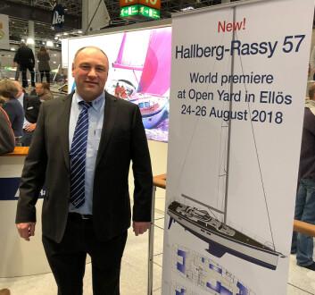 FORNØYD: Magnus Rassy melder om stor interesse under messen. Verftet har nå den største ordreinngangen på 11 år.