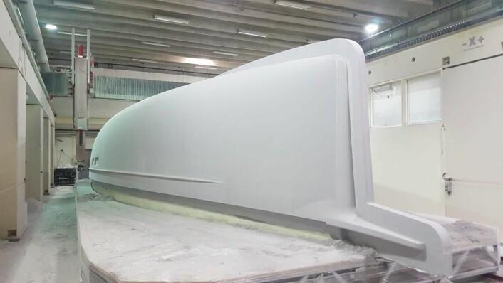 PLUGG: Den nye 57-foteren er alt under produksjon. Båten skal være ferdig til sommeren.