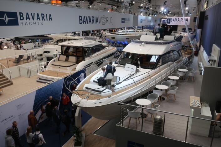 STORT: Bavaria brukte Boot for å lansere tre nye seilbåter og to nye motorbåter.