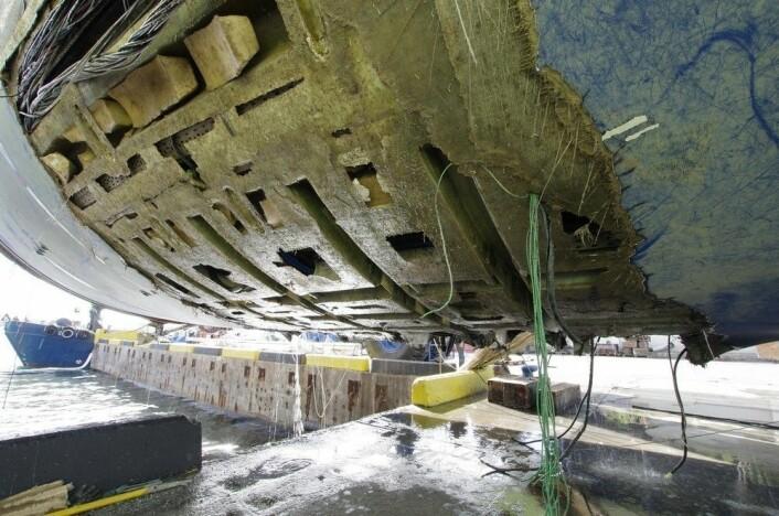 DYRT: «Polina Star III» mistet kjølen på grunn av konstruksjonsfeil.