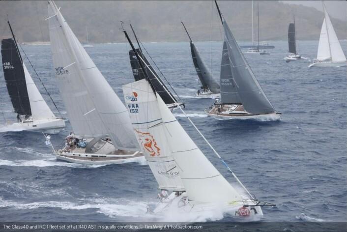 NORSK: To båter med norske nummer i seilet. Swan 66 «Enigma» og Xp50 «NorXL», som er solgt til en østerriker.